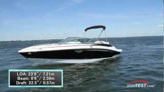 Cruisers Sport Series 238 Bow Rider Test 2013- By BoatTest.com