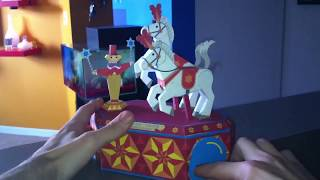 Paper Crafts Moving White Horses, Circus