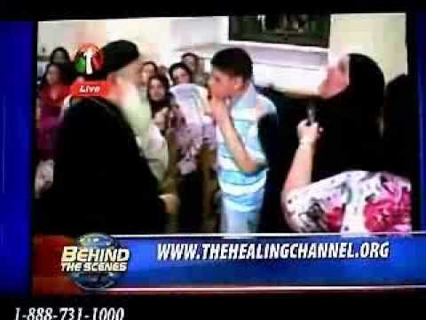 Jesus Christ heals an Egyptian Blind Muslim Boy with a Cross