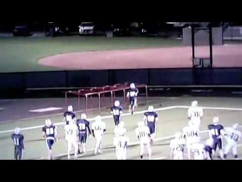 Football player hits line chutes