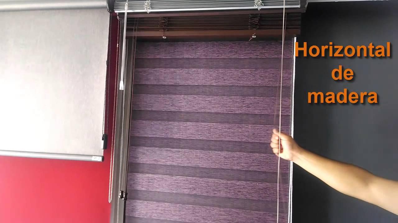 Persianas y cortinas horizontal de aluminio y horizontal - Cortinas de madera ...