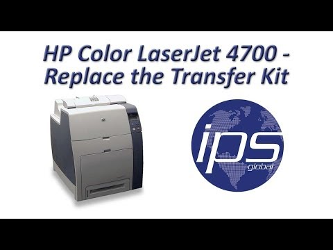 HP 4700 - Replace the Transfer Kit