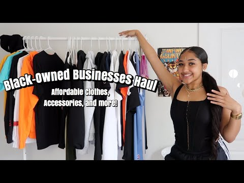 Black-Owned Businesses Haul! Affordable Clothes, Accessories, and More! Support Small Businesses