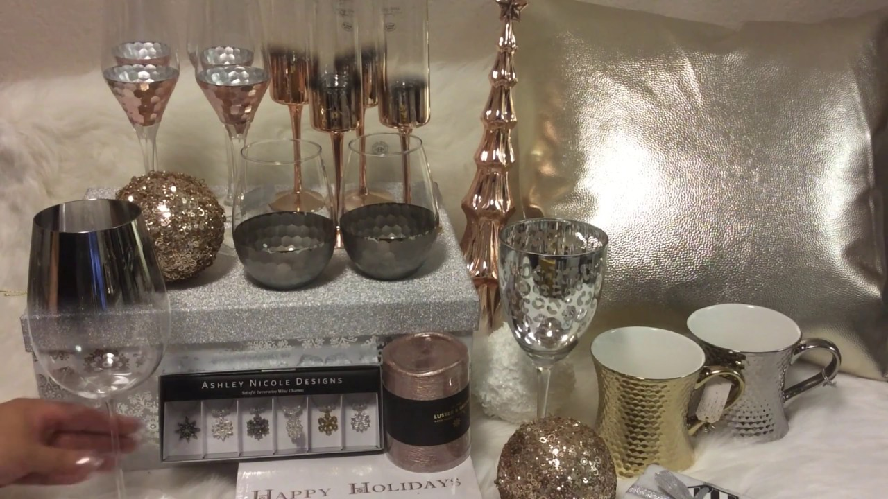 Rosegold Holiday Home Decor Tjmaxx Homegoods Marshalls Haul Nov 2016
