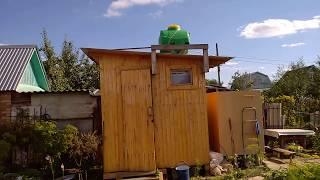 Деревянный душ на даче своими руками