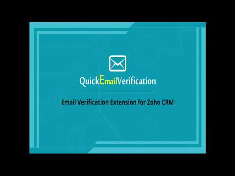 QuickEmailVerification Extension For Zoho CRM