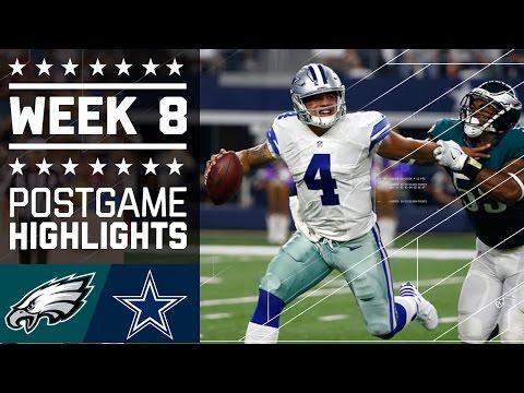 Eagles vs. Cowboys | NFL Week 8 Game Highlights