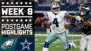 Eagles vs. Cowboys | NFL Week 8 Game Highlights