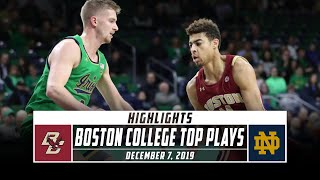 Boston College Basketball Top Plays vs. Notre Dame (2019-20) | Stadium