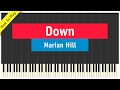 Marian Hill - Down - Piano Cover (How To Play Tutorial)