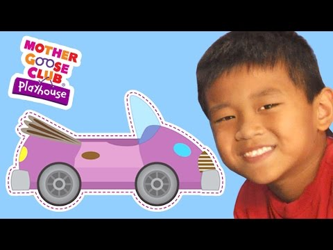 The Wheels on the Bus | The Wheels on the Car | Mother Goose Club Playhouse Kids Video