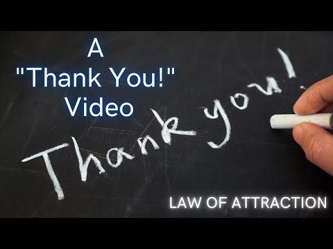 "A ""Thank You"" Video."