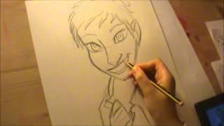 Drawing Ellen DeGeneres as a Cartoon By Jada O
