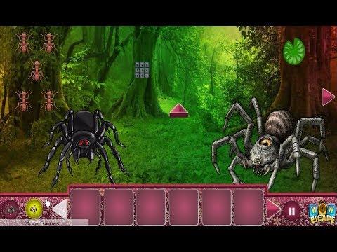 Giant Spider Forest Escape walkthrough Wowescape.