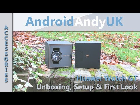 Huawei Watch GT Unboxing, Setup and First Look