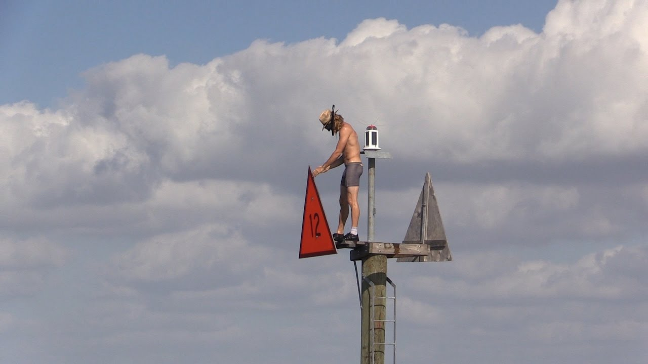 Jumping Off Channel Marker - YouTube