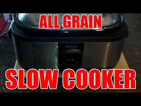 All Grain Brewing in Slow Cooker Black IPA - Kitchen Brewing - Small Batch