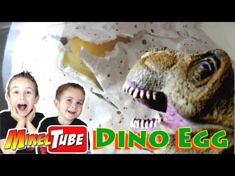 Sorprendente Dino Egg o huevo de Dinosaurio Gigante  en Mikel Tube