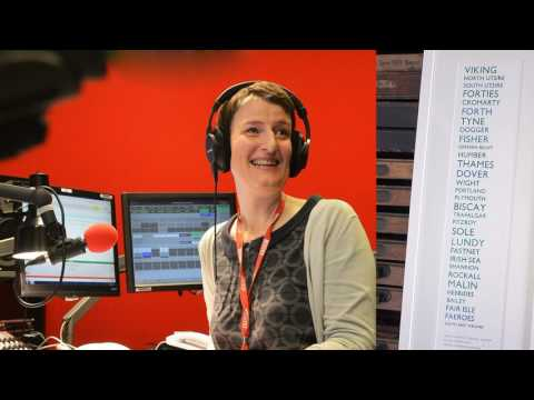 Kathy Clugston reads the Shipping Forecast on June 7, 2017
