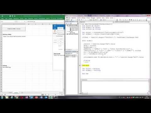 0035 Excel Vba E Mail Aus Excel Zusammenstellen Und Versenden