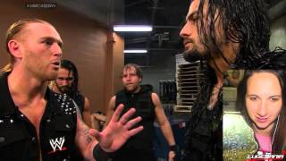 WWE Smackdown 4/25/14 The Shield DESTROYS 3MB backstage brawl Live Commentary