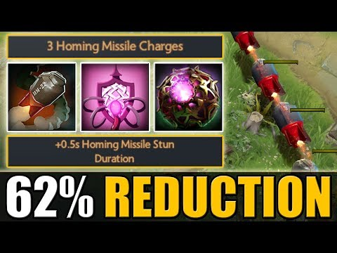 The Rocketeer - Non-Stop Homing Missile Spam [62% Cooldown reduction] Dota 2 Ability Draft