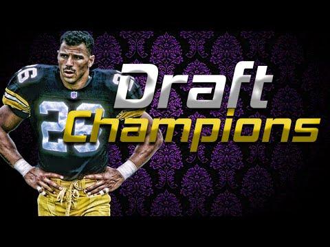 MADDEN NFL 16 BLINDFOLDED DRAFT CHAMPIONS DRAFT + AMAZING 99 YARD ROD WOODSON PICK SIX!!
