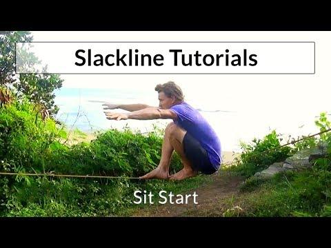 Slacklining Tutorial Slackline Sit Start SLACKROBATS