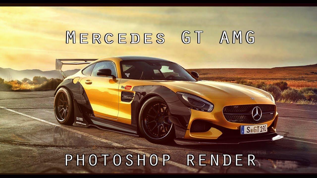 mercedes amg gt r photoshop render virtual tuning youtube. Black Bedroom Furniture Sets. Home Design Ideas