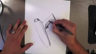 Sketch a small hairdryer with BiC pen