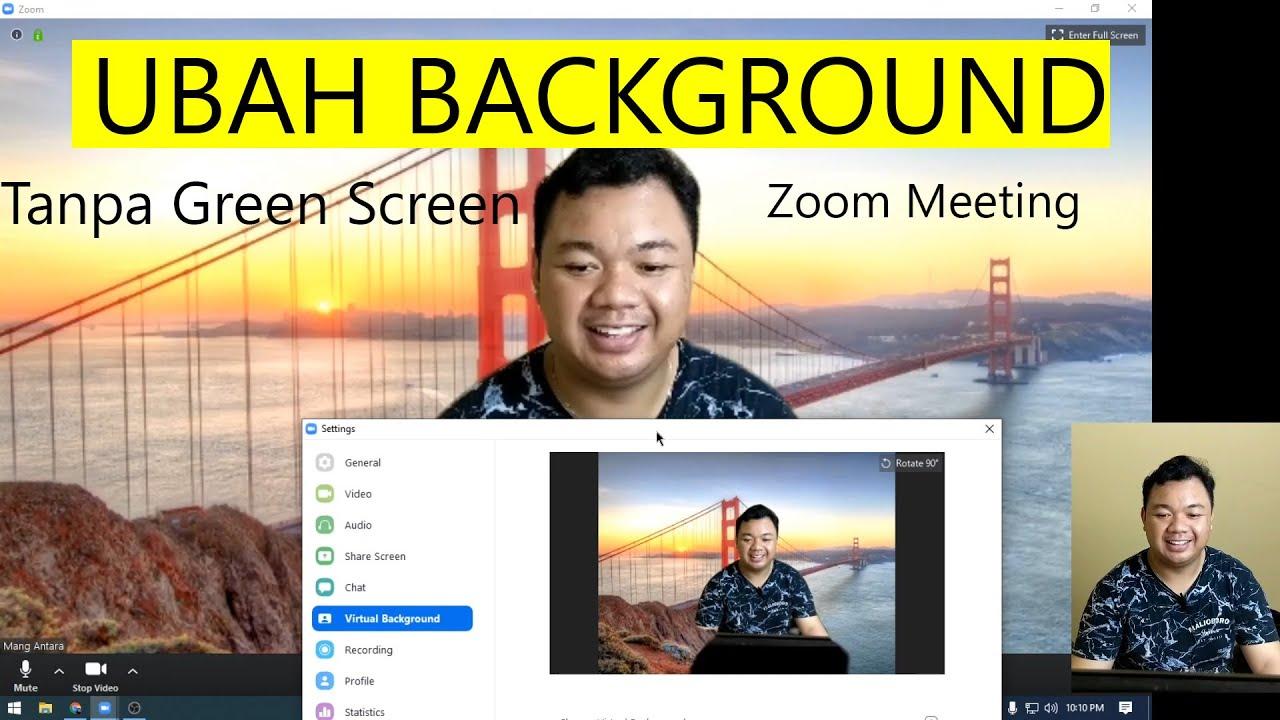 Cara Mengganti Background Zoom Virtual Background Youtube