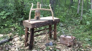 From Tree to Bench Using Only Hand Tools