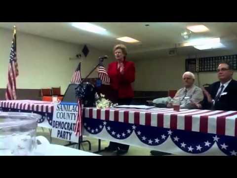 Senator Debbie Stabenow speaks at Sanilac County  part 1