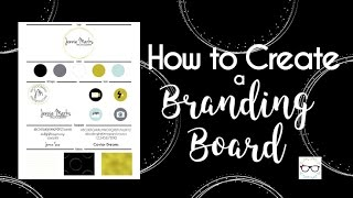 How to Create a Branding Board - Photoshop & Illustrator