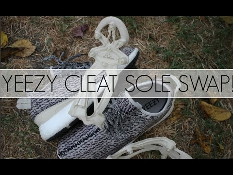 4f3e7693b Yeezy Cleat Sole Swap with an Adidas Pure Boost sole! - YouTube