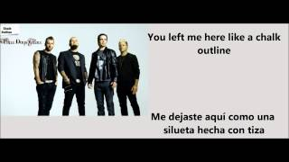 chalk outline Three days grace español-ingles.