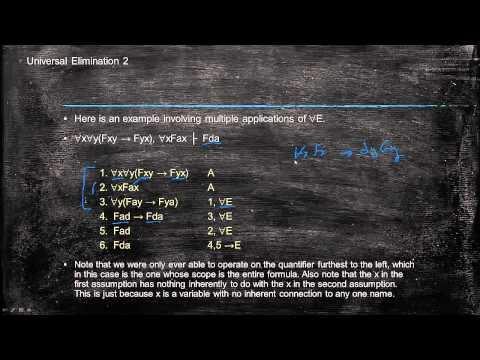 Predicate calculus: Universal Elimination