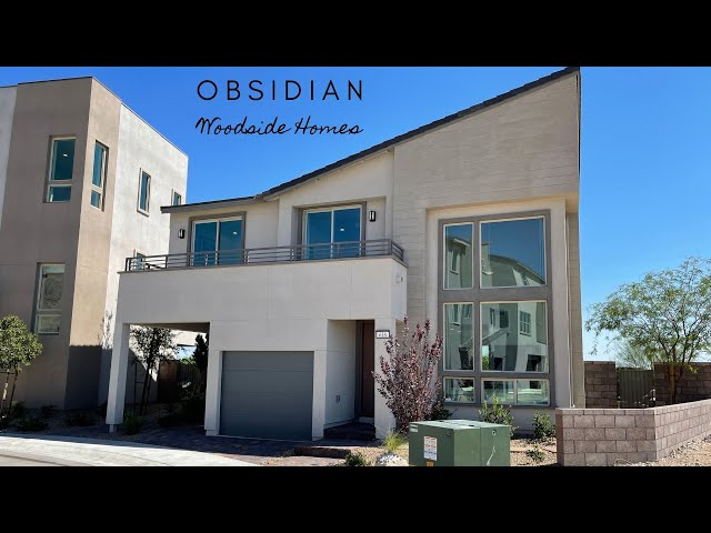 Modern New Homes For Sale Summerlin | Front Deck | Red Point  | Woodside Homes $464k+ 1,593sf