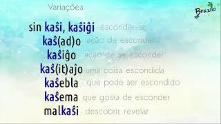 KAŜI verbo em Esperanto