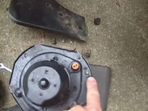 1984 Corvette A/C and Heater Fan Blower Motor Removal