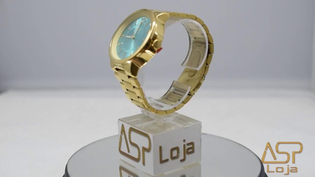 53700eb4964 RLG 4016 Relógio Feminino Analógico Euro Opole EU2035LXM 4R Dourado ...
