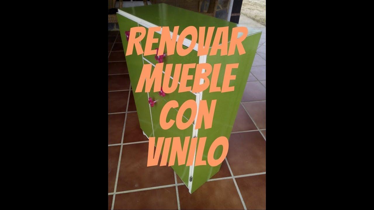 Decorar mueble con VINILO Adhesivo. - YouTube