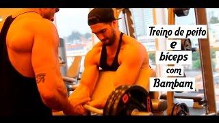 Treino de Peito e Bíceps com Kleber Bambam