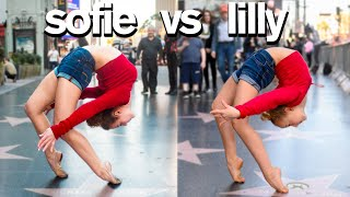 Dance Moms Lilly K vs Sofie Dossi  Funny Contortion Challenge!