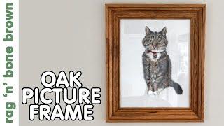 Oak Picture Frame - Framing A Pet Portrait