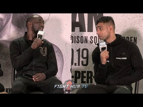 """TERENCE CRAWFORD TELLS AMIR KHAN TO HIS FACE """"YOU DIDNT QUIT? SO WHAT HAPPENED?"""""""
