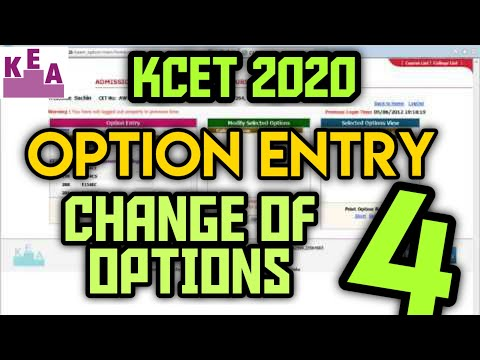KCET 2020 : Option Entry | Change of options explained | #4 🤩 #kcet #counselling #optionentry
