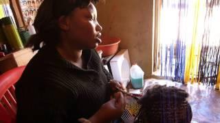 Brading hair in Tanzania