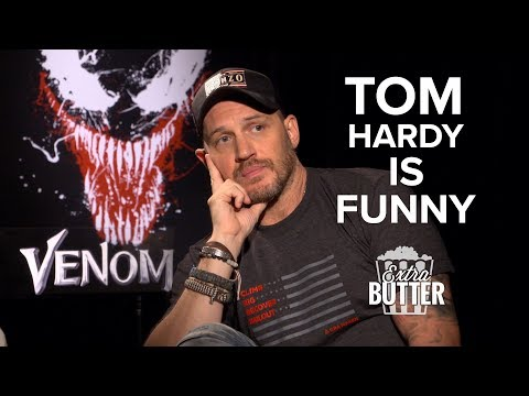 Tom Hardy is Funny: Awkward Venom Interview | Extra Butter