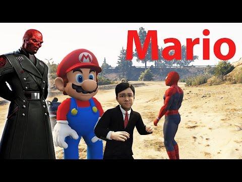 Şimşek Mcqueen Örümcek Adam, Afacan Kırmızı Kafa Şehre Saldırıyor Afacan  Mario Ile Tanışıyor